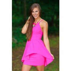 Blessing In Disguise Dress-Hot Pink - $39.00
