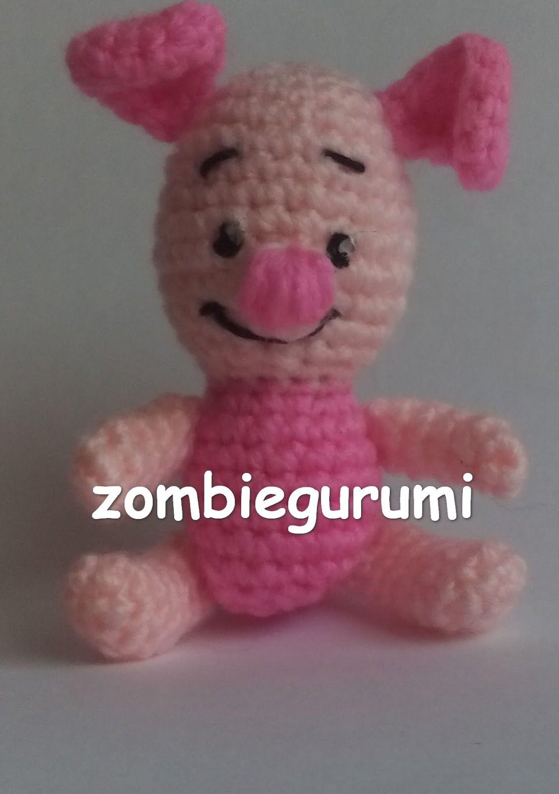 Piglet el Cerdito Amigurumi de Winnie the Pooh - Patrón Gratis en ...