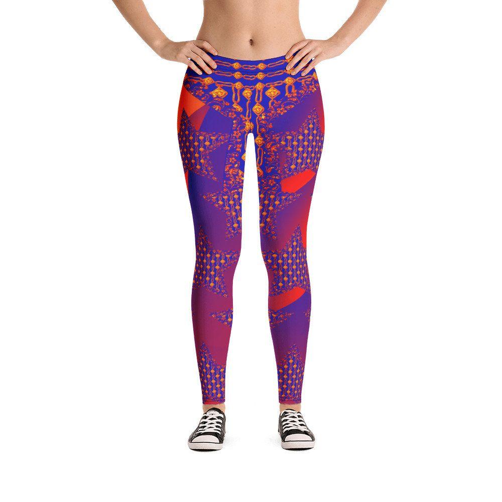 b70ebd289eaef Versace Inspired Leggings   Pop Art leggings   ornament Leggings   Star  Ornament pattern Leggings