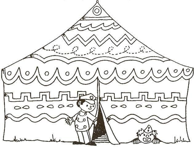 Worksheet Circus Tent for Circus Theme.•°•°•° Werkblad