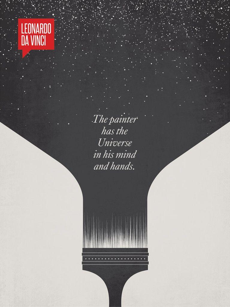 leonardo da vinci minimalist poster quote typografie lesen und grafiken. Black Bedroom Furniture Sets. Home Design Ideas