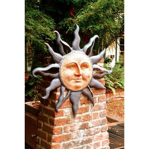 SPI Home Large Rising Sun Face Wall Plaque Celestial Garden Indoor Outdoor 37/""