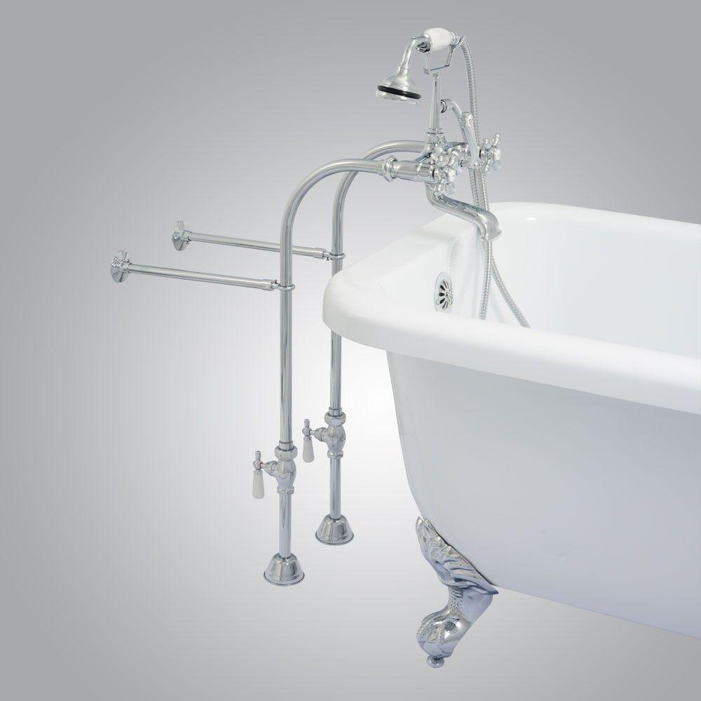 Randolph Morris Freestanding British Telephone Clawfoot Tub Faucet W