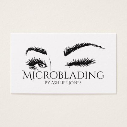 b7a5723bee7 Microblading Eyebrows Tattoo Permanent Makeup Business Card - artists  unique special customize presents