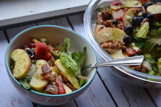 Making Miracles: #FreshTastyValentines ~ The Best Fruity Nutty Salad You've Ever Had