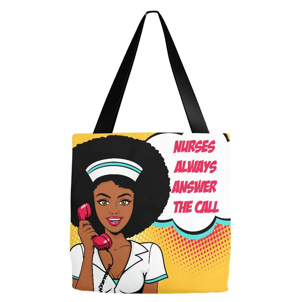 Nurses always answer the call pop art tote canvas fabric and products