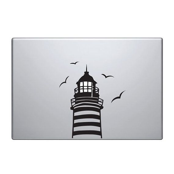 Lighthouse Vinyl Decal Sticker To Fit Macbook Pro - Custom vinyl decals macbook