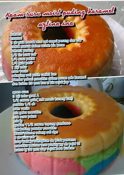 Apam Susu Moist Puding Karemel Cake Kuih Melayu Cake
