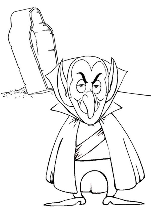 Free Online Vampire Colouring Page Halloween Coloring Halloween Coloring Pages Minion Coloring Pages