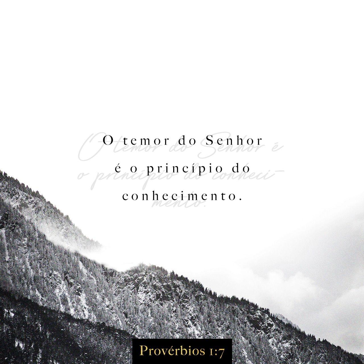 Proverbios 1 7 Para Ser Sabio E Preciso Primeiro Temer A Deus O