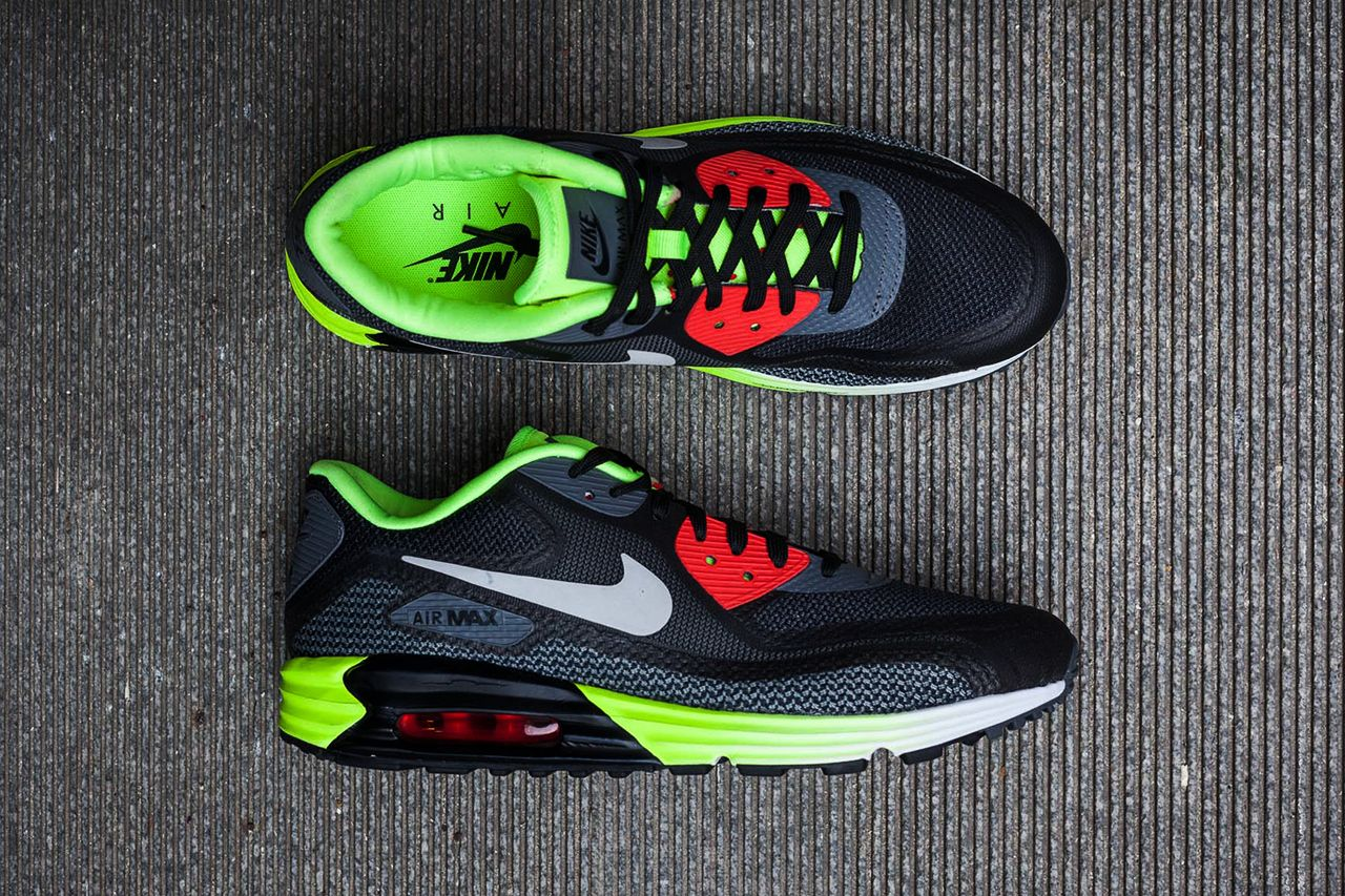 best sneakers ffd45 04eda Exclusive Look at the Nike Air Max Lunar90 Black Cool Grey-Anthracite-Volt