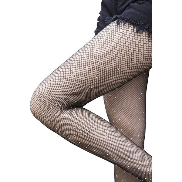 67b06184693 L amp ZZ Women s Sexy High Waist Tight Sparkle Rhinestone Fishnet... ( 5.95