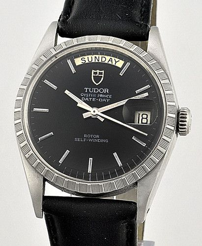 6425311b93 Men's 1960's Rolex Tudor Oyster Prince Auto Day & Date Black Dial W/Watch