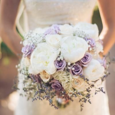 Round Bouquet With Lavender White Peonies Both Purple White Roses Josh Snyder Photograph Purple Bride Bouquet Bridal Bouquet Peonies White Rose Bouquet