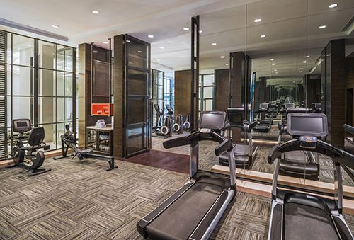 The Fitness Center At The Grand Mansion A Luxury Collection Hotel Nanjing By Hba Design Salle De Sport Hotels Sport