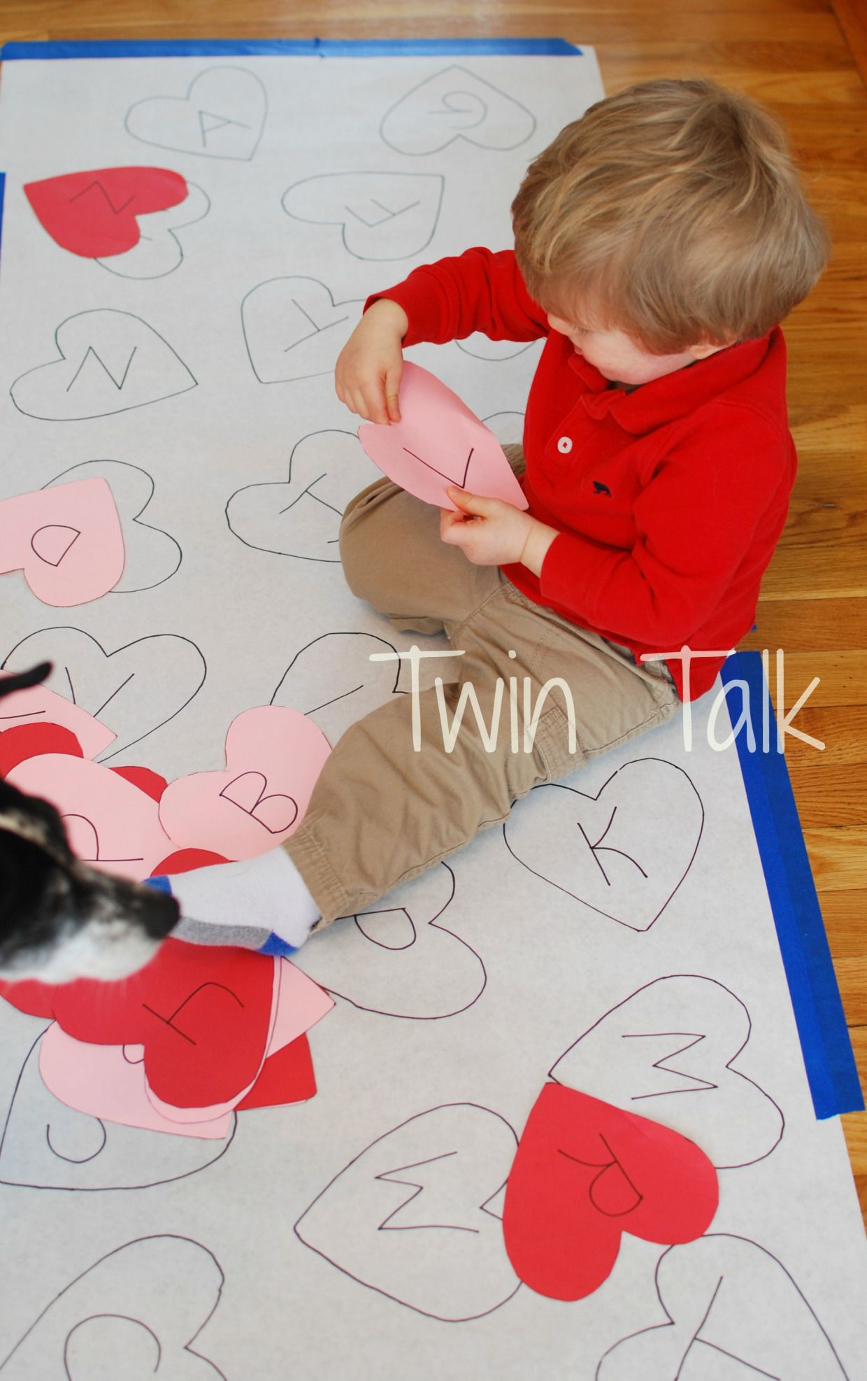 Valentine S Alphabet Matching Game Twin Talk In