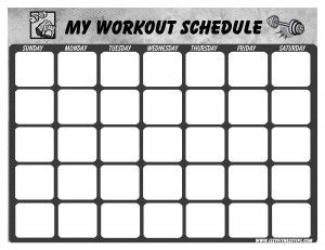 weight loss calendar template
