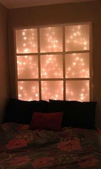 Love This Diy Headboard With Lights Closet Bedroom Pinterest Diy Headboards Lights And