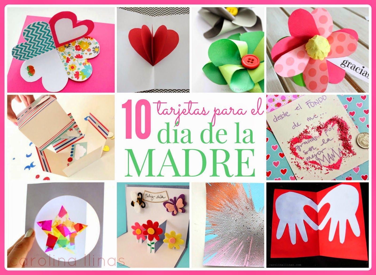 Nuestro mundo creativo 10 tarjetas para el d a de la - Regalos para el dia de la madre manualidades ...