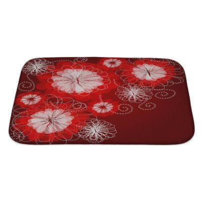 Gear New Charlie Decorative Floral with a Beautiful Flowers Bath Rug Size: