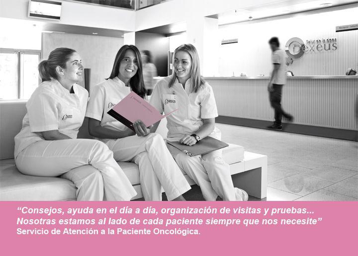 Consejos, ayuda en el día a día, organización de visitas y pruebas... Nosotras estamos al lado de cada paciente siempre que nos necesite. Servicio de Atención a la Paciente Oncológica