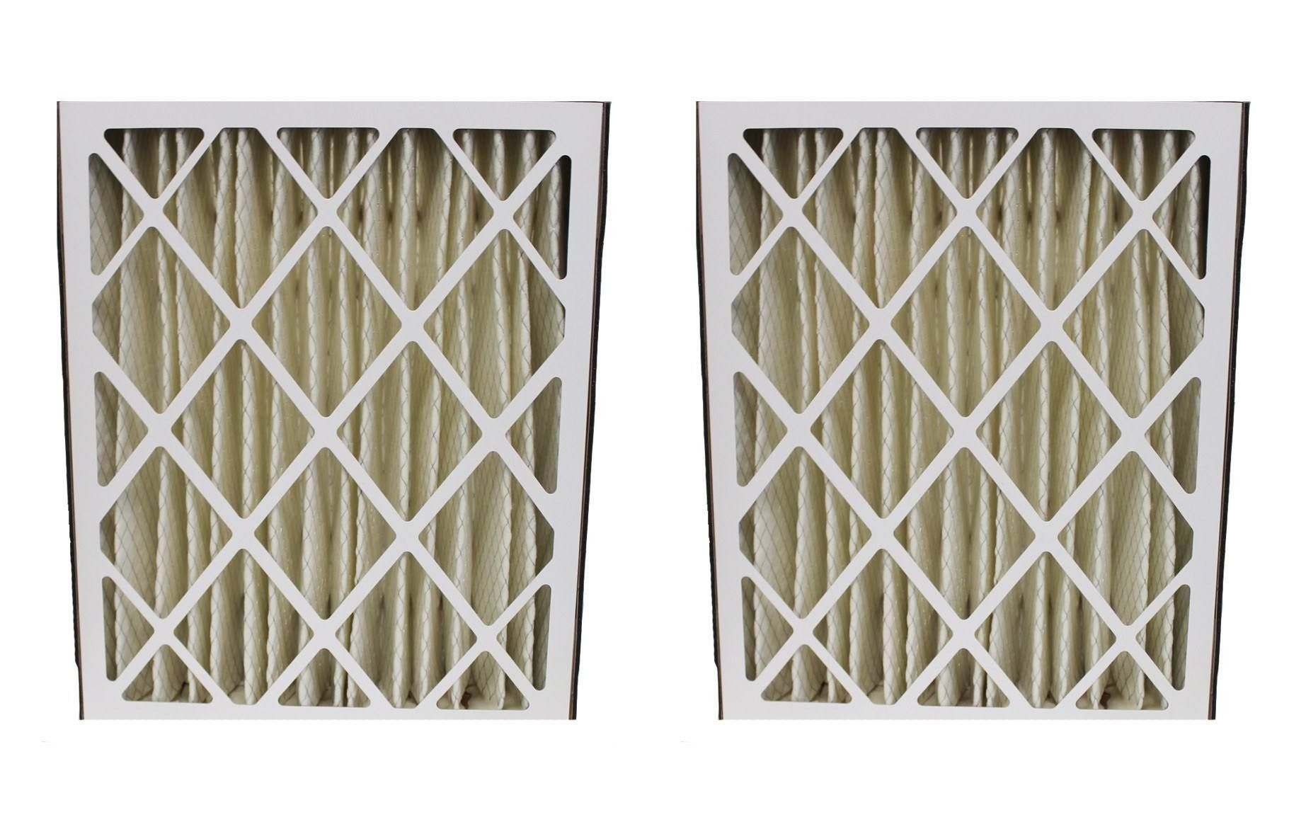 2pk Replacement 20x25x5 MERV8 Pleated HVAC Filters, Fits