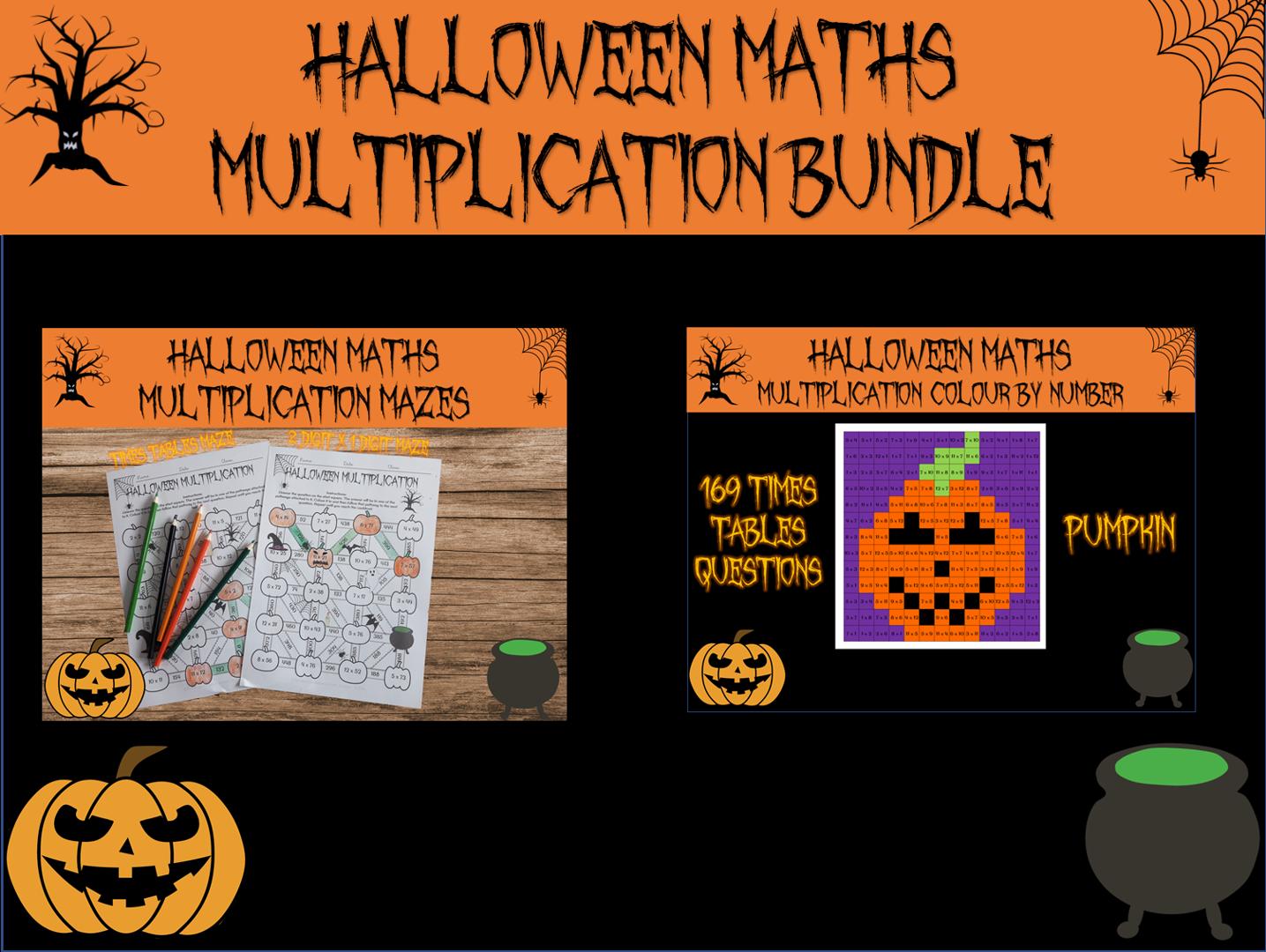Halloween Maths Multiplication Activities Bundle