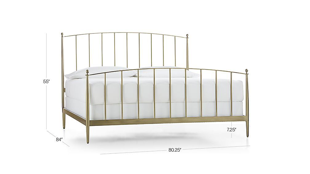 Mason Brass Bed Crate And Barrel Brass Bed Bed White Queen Bed