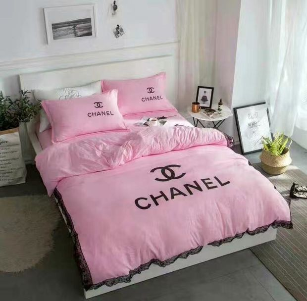 Chanel Duvet Cover Blanket Quilt Coverlet Pillow Shams 4 Pc