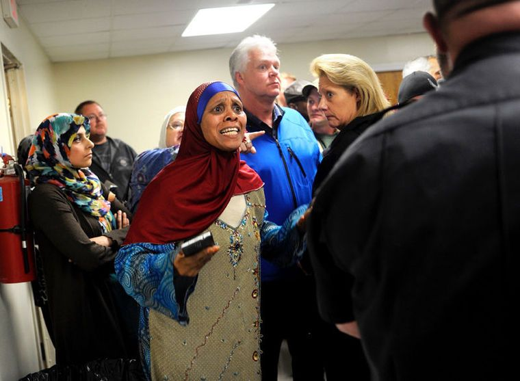 Tension escalates at meeting on proposed mosque in