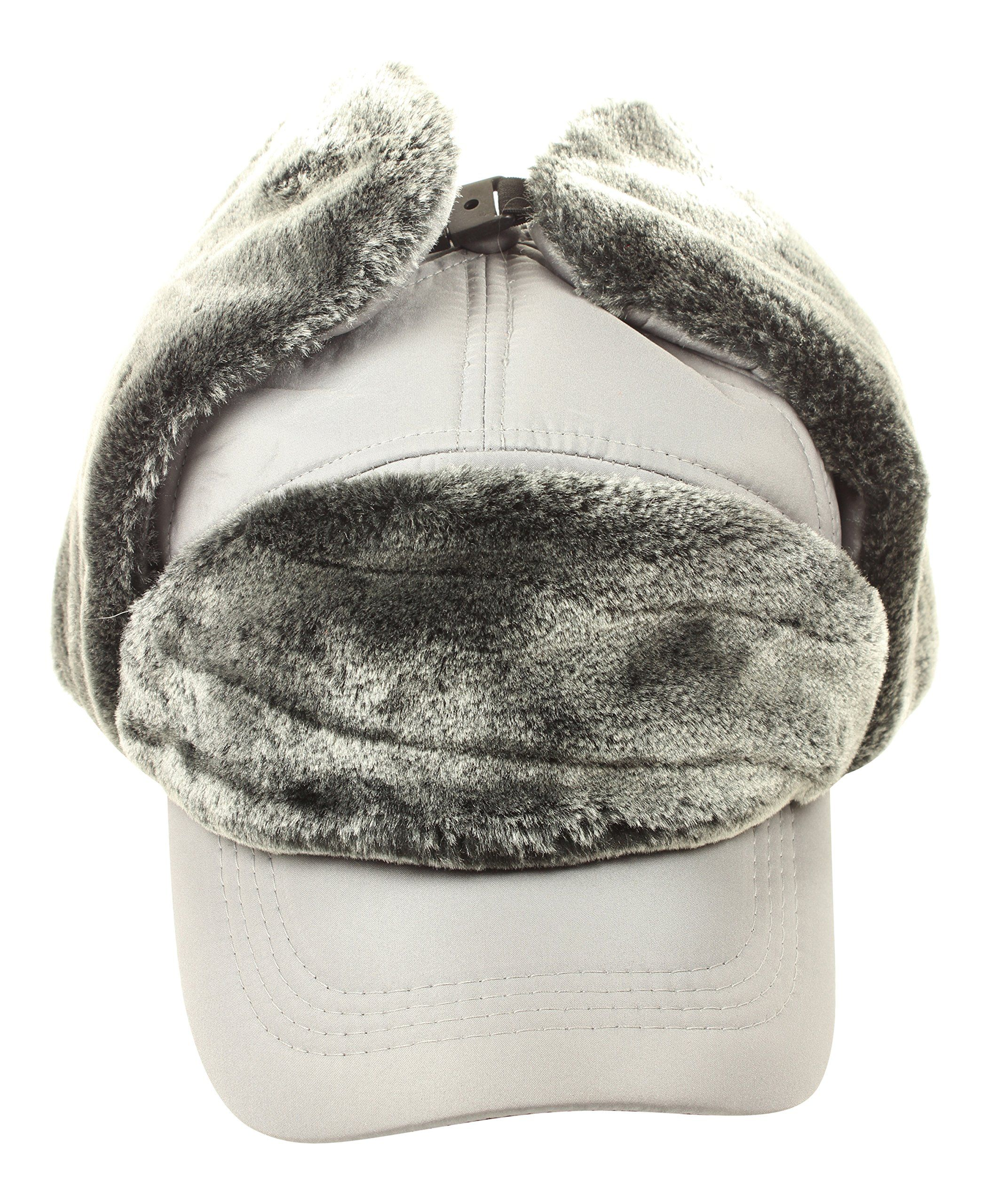 Winter Russian Style Earflap Hats Polyester Trapper and Hunting Type Hat  (Gray). KEEPS cd24f7156b7