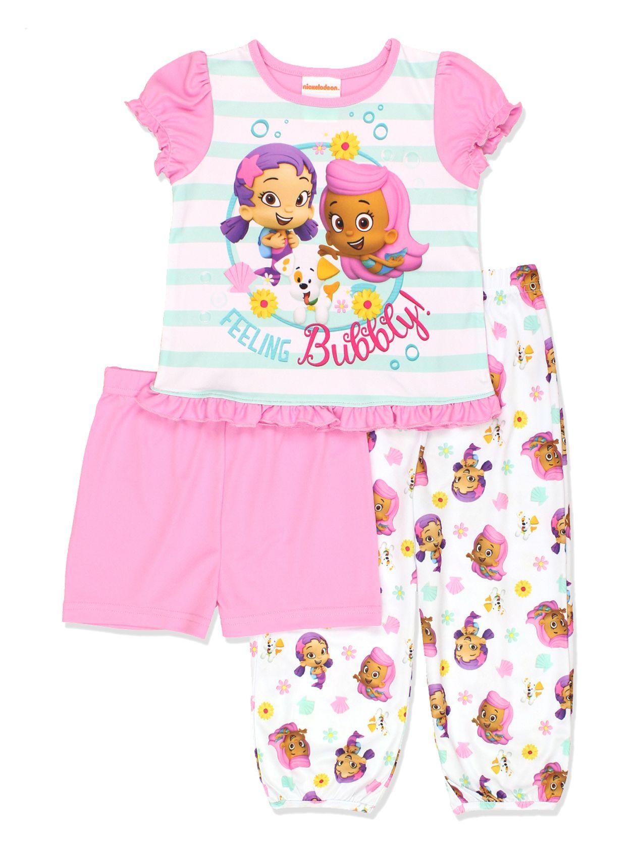 Bubble Guppies Toddler Girls 3 piece Pajamas Set 21NS023TZS