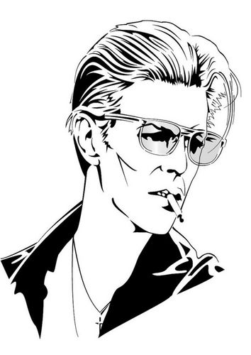 Coloring Page David Bowie David Bowie Tattoo David Bowie Coloring Books