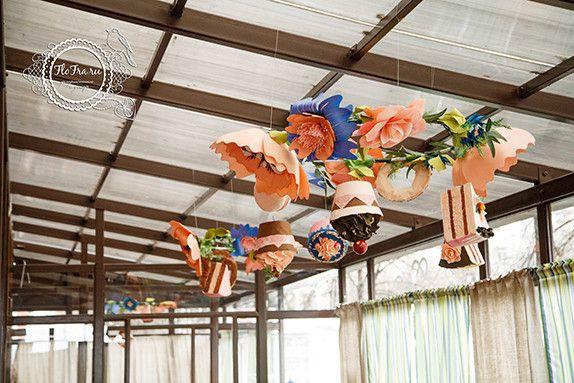 Украшение летней верандв декор флористика цветы муляжи Кемерово Новосибирск декор дизайн Гигантские цветы www.flofra.ru14