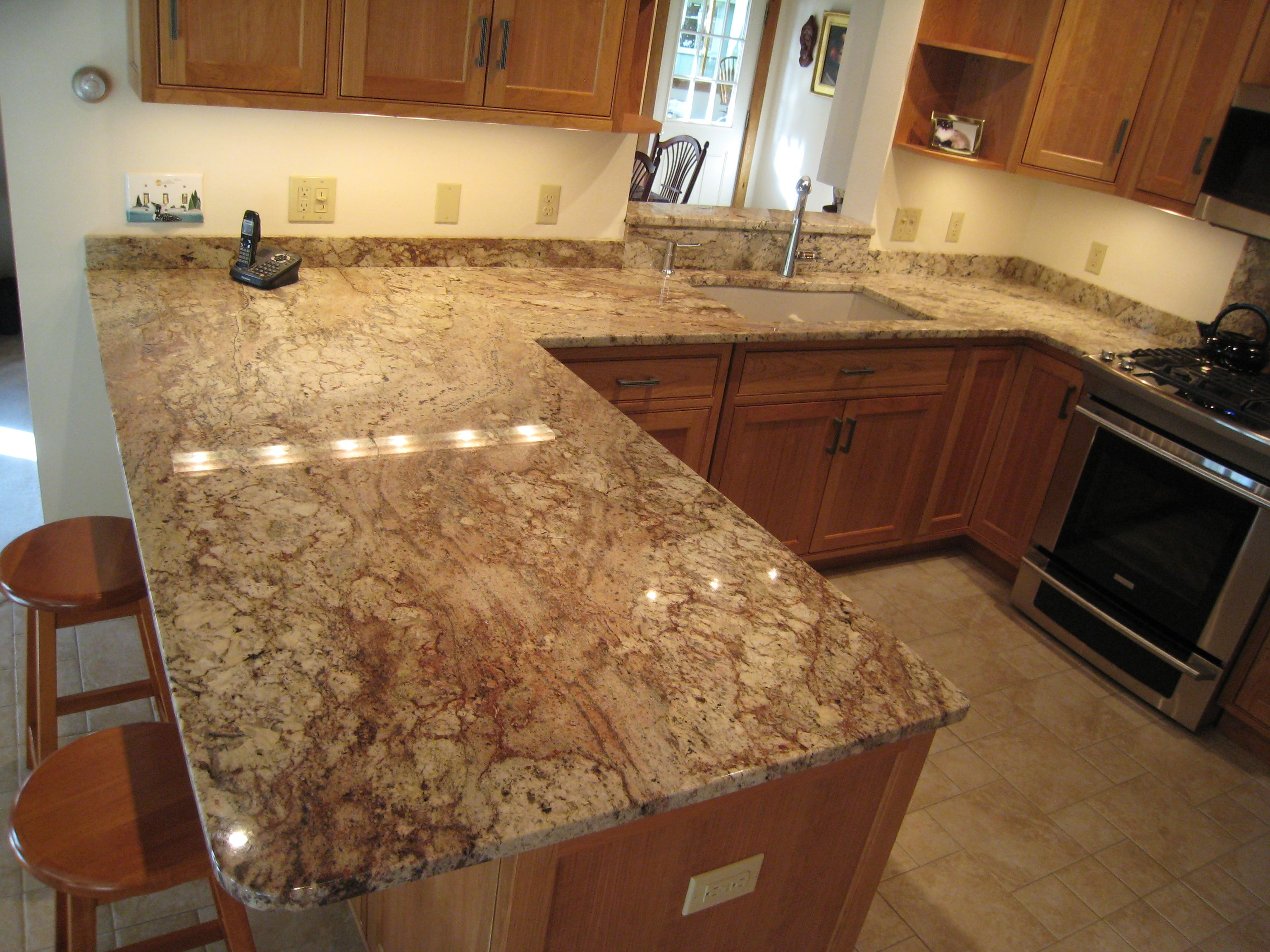 Crema Bordeaux Granite Kitchen Like This Color Granite Maybe With Wood Floors And White Cabinets