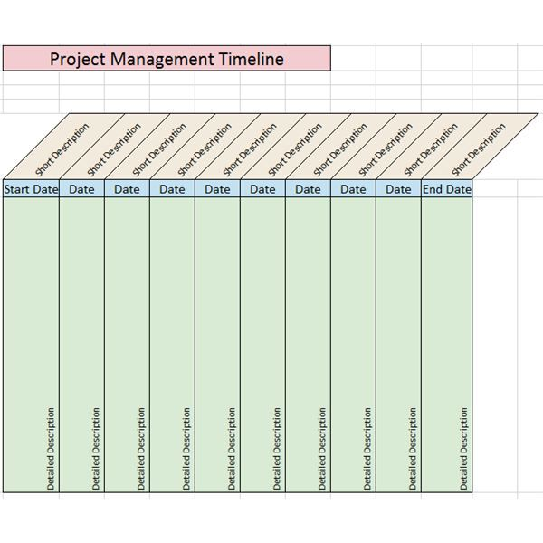 Sample Project Management Timeline Templates for Microsoft Office - sample project timeline