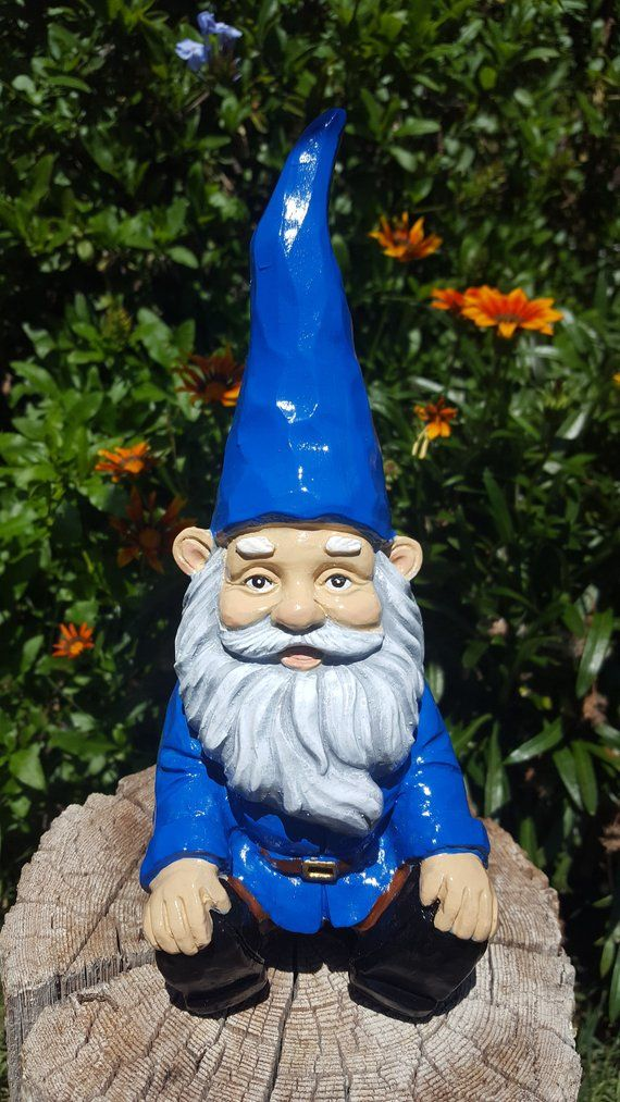 """Gnome Garden: Gnome, Relaxing Garden Gnome, 5.6"""" Inches Tall, Solid"""