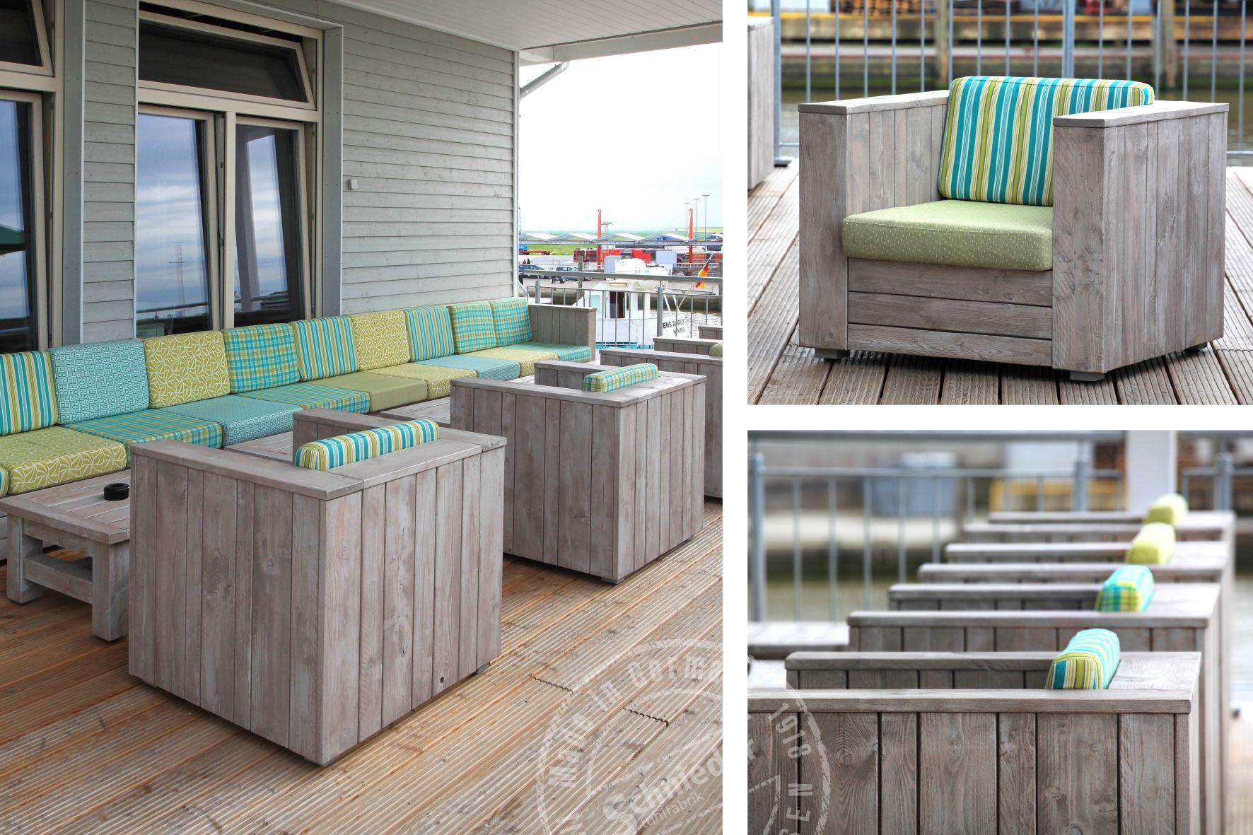unsere outdoor m bel im restaurant caf wattkieker im sch nen harlesiel an der nordsee. Black Bedroom Furniture Sets. Home Design Ideas