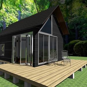 Tiny House plan 10' X 16' 10' X 7' A frame Cabin house small house loft house