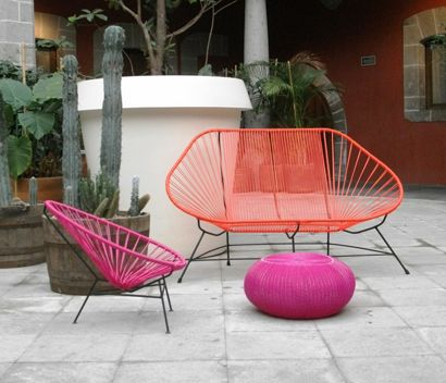 Casas cosas y dem s la silla acapulco hostal sta for Diseno de muebles de jardin al aire libre