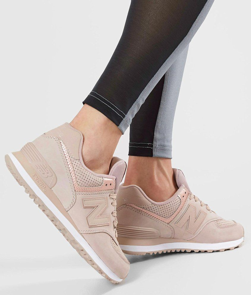 New Balance 574 Nubuck Shoe - Women's Shoes in Au Lait ...