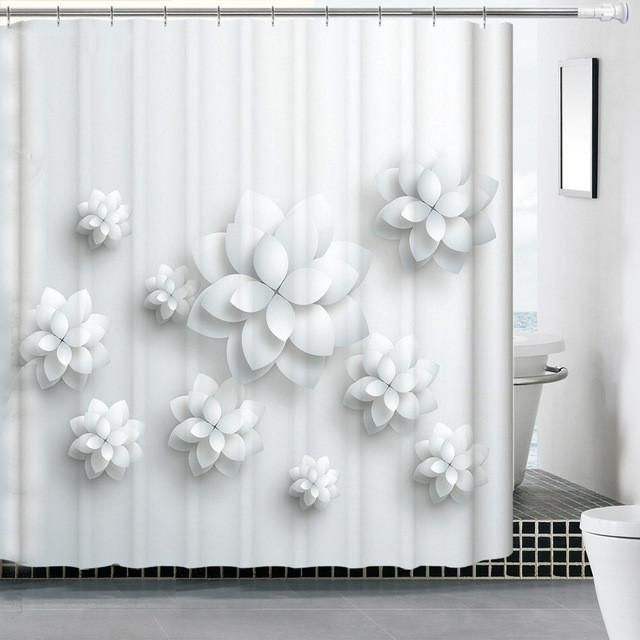 Water/Mildew Proof 3D Shower Curtain Collection! | Mildew Stains ...