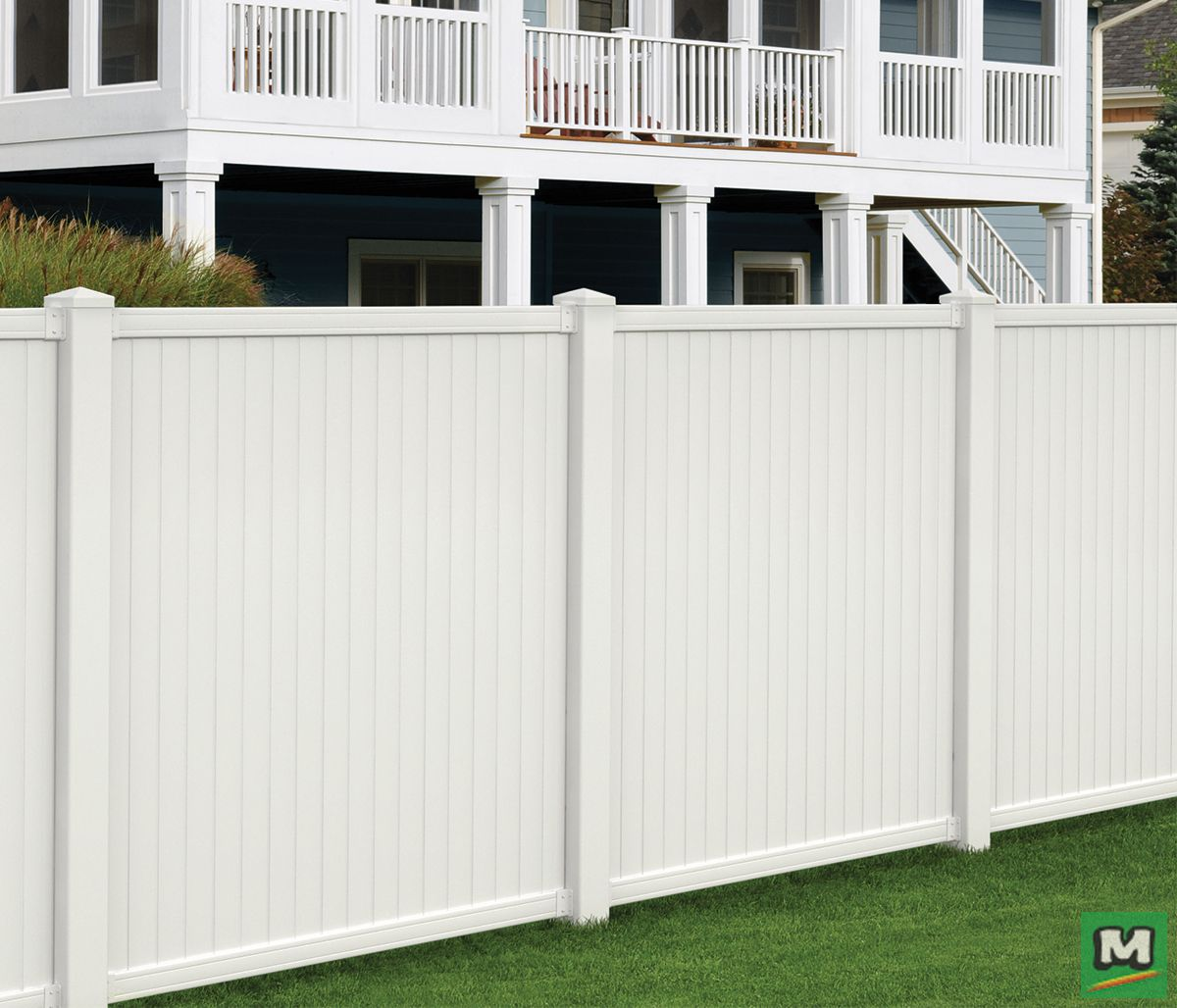This 6 X 6 Belmont Vinyl Fence Panel Features A Unique Design That Securely Locks Pickets Into Place With A Building A Fence Fence Panels Vinyl Fence Panels