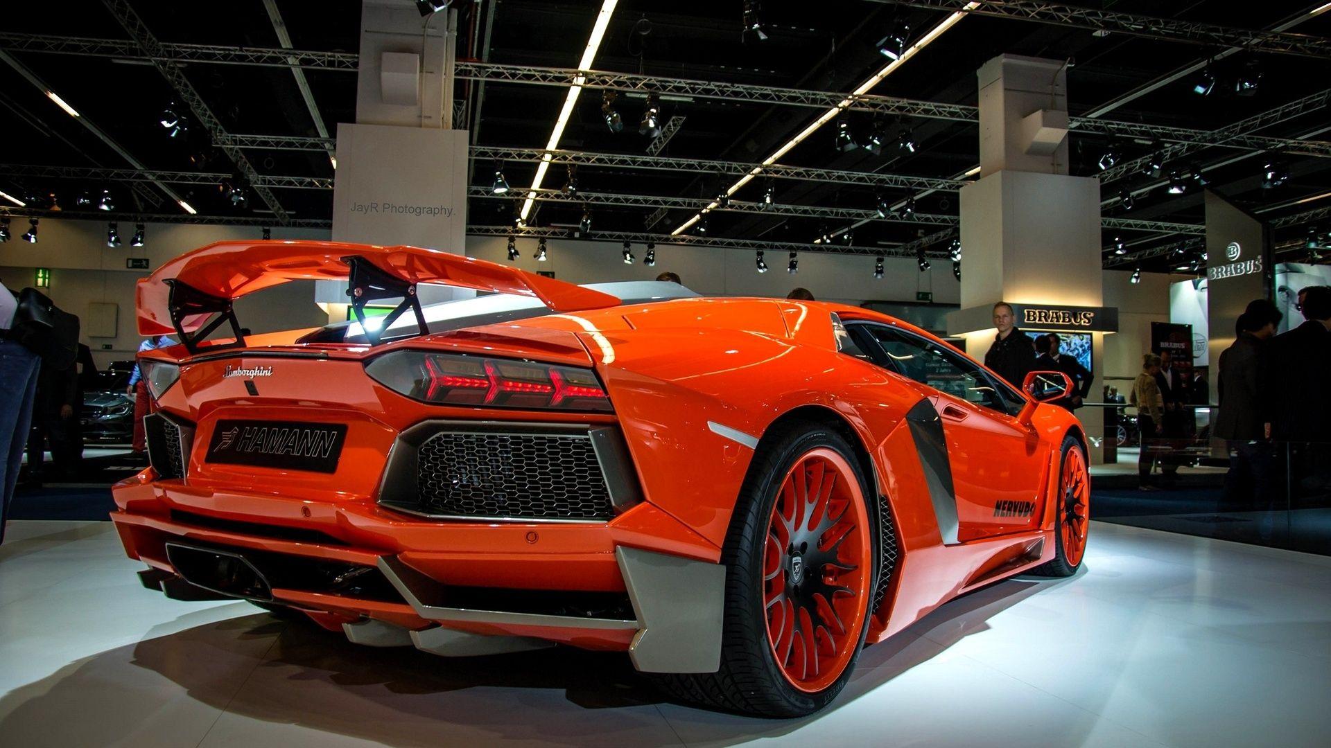 Orange Lamborghini Aventador Super Car Wallpaper - http://www.gbwallpapers.com/orange-lamborghini-aventador-super-car-wallpaper/ (Aventador, Lamborghini, Orange, super car, Wallpaper / Cars)