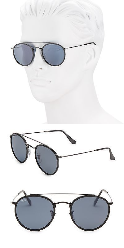 ae8bd858c0b8 ... best price sunglasses 122340 ray ban rb3647n51 aviator round metal  sunglasses buy it now fdbf3 ae812
