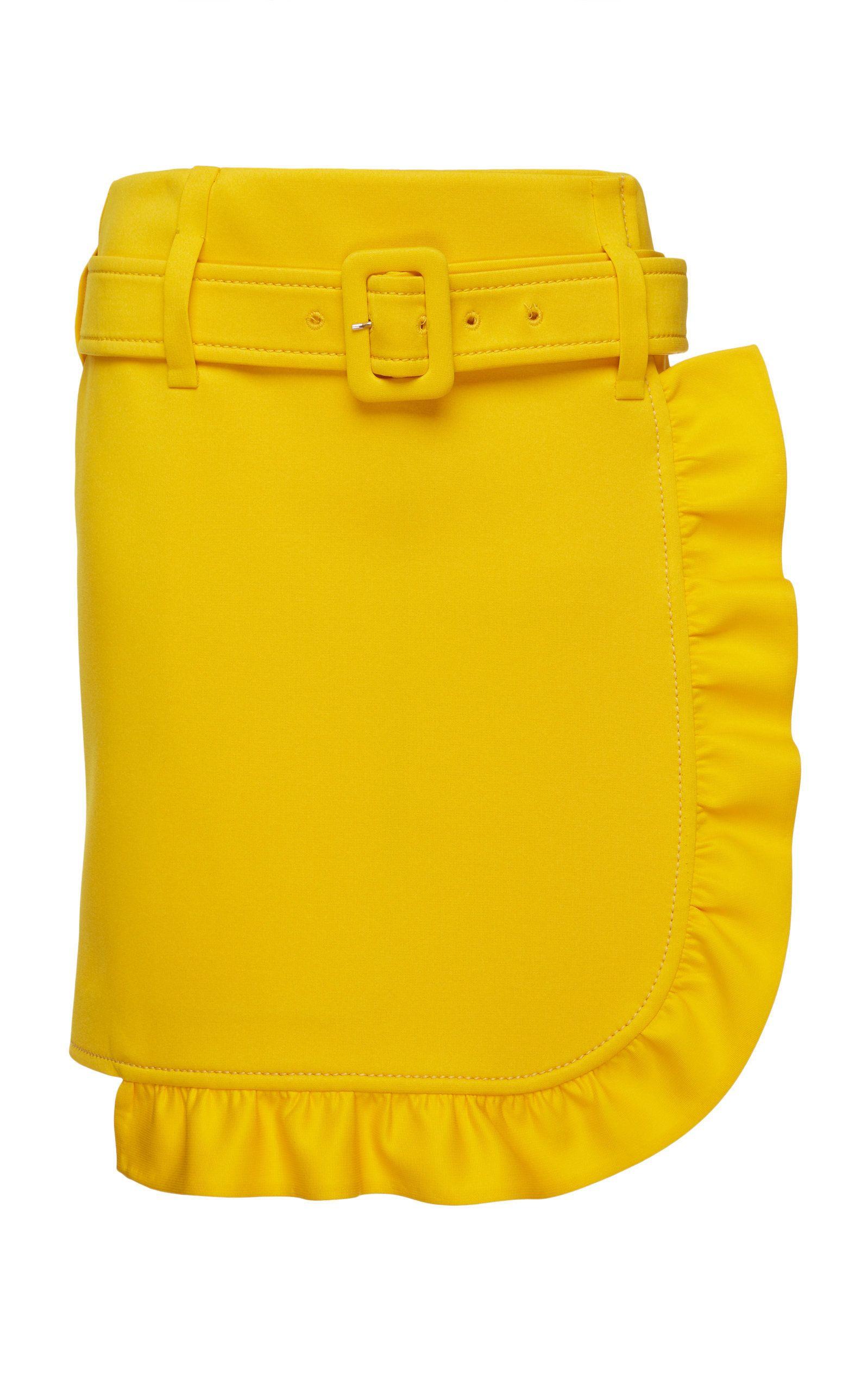 ce66b3d832c24 Prada Ruffled Crepe Mini Skirt in 2019 | Products | Skirts, Mini ...
