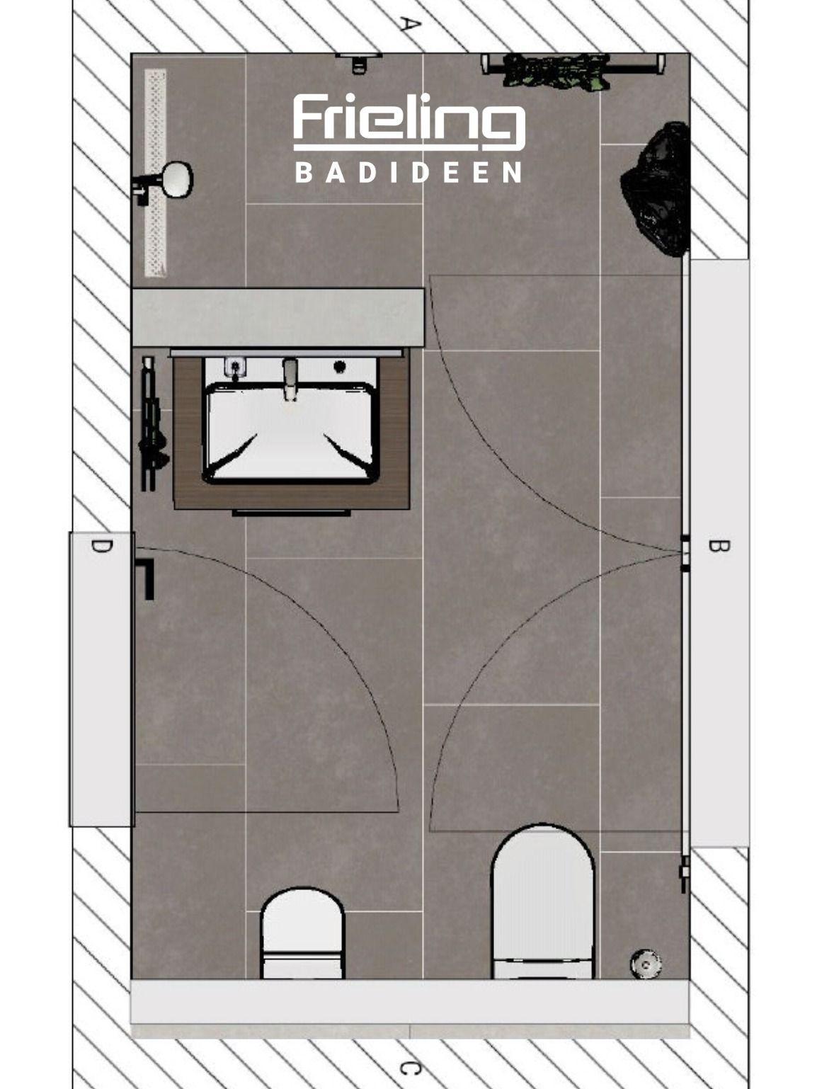 Badezimmer Das Moderne Gastebad Mit Dusche Grundriss In 2020 Wc Mit Dusche Gastebad Kleine Gaste Wc