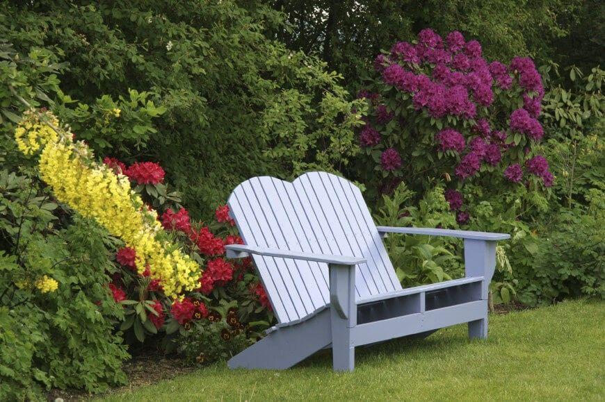Einige Adirondack Stühle Sitzen Doppelt. Mit Einem Modell Wie Diese Können  Sie Gemeinsam Mit Ihrem