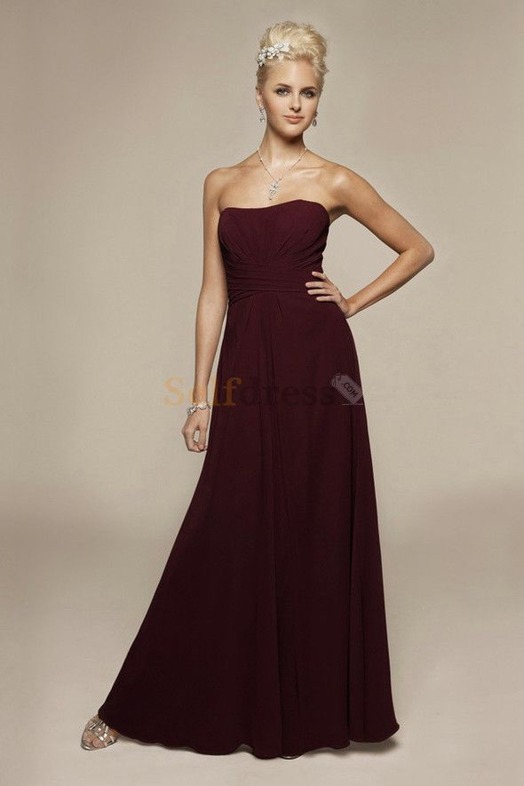 a1909040a8d Elegant   Luxurious Empire Waist Chiffon A-Line Floor Length Bridesmaid  Dress