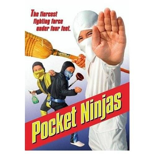"""Pocket Ninjas (Artwork), """"Pocket Ninjas"""" is a 1994 American action film directed by Donald G. Jackson, David Huey, and Dave Eddy. It is cons..."""